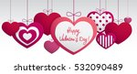 paper hanging hearts isolated... | Shutterstock .eps vector #532090489