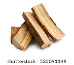 firewood on a white background | Shutterstock . vector #532091149