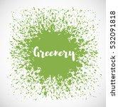 Abstract Green Grunge Splash O...