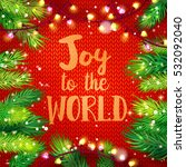 typographic christmas card with ... | Shutterstock .eps vector #532092040
