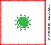 sun icon vector illustration... | Shutterstock .eps vector #532093270