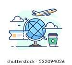 illustration of travel. globe... | Shutterstock .eps vector #532094026