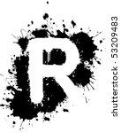graffiti splatter r   Shutterstock .eps vector #53209483