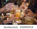 young people toasting and cheer ... | Shutterstock . vector #532094914
