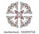 abstract fractal with a brown... | Shutterstock . vector #532095718