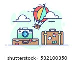 illustration of travel. balloon ... | Shutterstock .eps vector #532100350
