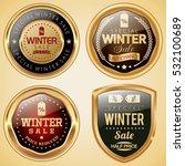 winter sale badges   Shutterstock .eps vector #532100689