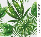 print exotic jungle plant... | Shutterstock .eps vector #532108330