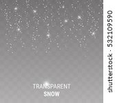 falling snow on a transparent... | Shutterstock .eps vector #532109590