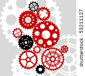 vector gear and cogwheel set | Shutterstock .eps vector #53211127