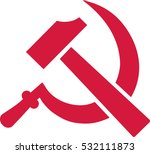 hammer and sickle | Shutterstock .eps vector #532111873