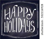 happy holidays flyer design... | Shutterstock .eps vector #532116928