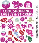 mega cool shopping labels  ... | Shutterstock .eps vector #53211841