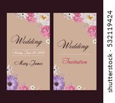 wedding invitation  thank you... | Shutterstock .eps vector #532119424