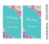 wedding invitation  thank you... | Shutterstock .eps vector #532119430