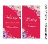 wedding invitation  thank you... | Shutterstock .eps vector #532120420