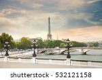 the eiffel tower and pont... | Shutterstock . vector #532121158