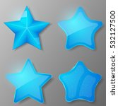 Set Of Blue Stars. Collection...