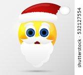 santa emoticon  emoji  smiley....   Shutterstock .eps vector #532127554