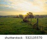 Stock photo northern ireland countryside morning sunrise 532135570