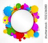 round stitching paper on... | Shutterstock . vector #532136080