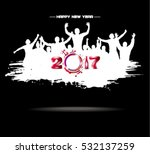 new year 2017. clouds from the... | Shutterstock .eps vector #532137259