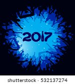 new year 2017. clouds from the... | Shutterstock .eps vector #532137274