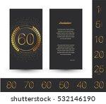 anniversary invitation greeting ... | Shutterstock .eps vector #532146190