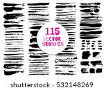 set of different grunge vector... | Shutterstock .eps vector #532148269