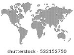 map of the world made in the... | Shutterstock .eps vector #532153750