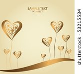 golden abstract background with ... | Shutterstock .eps vector #53215534