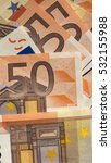 Fifty Euro Banknotes Currency...