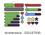 pixel art game interface... | Shutterstock .eps vector #532157530