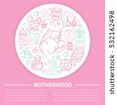 motherhood poster template.... | Shutterstock .eps vector #532162498