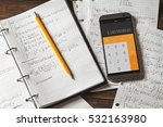 solving mathematical problems... | Shutterstock . vector #532163980