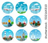 set of airport icons view on... | Shutterstock .eps vector #532164310