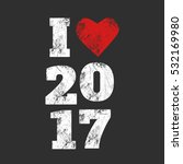 new year's 2017 grunge template ...