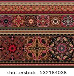 rich ethnic striped seamless... | Shutterstock . vector #532184038
