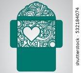 lasercut vector wedding... | Shutterstock .eps vector #532184074