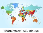 world map countries vector on... | Shutterstock .eps vector #532185358