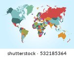 world map countries vector on... | Shutterstock .eps vector #532185364