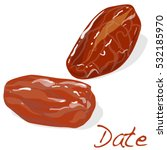 dates isolated on white... | Shutterstock . vector #532185970