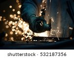 metal grinding on steel pipe... | Shutterstock . vector #532187356