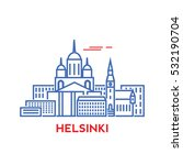 helsinki city architecture... | Shutterstock .eps vector #532190704