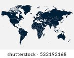 blue world map vector on gray... | Shutterstock .eps vector #532192168