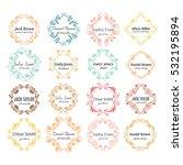 vector ink  logo template... | Shutterstock .eps vector #532195894