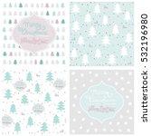 pastel christmas seamless... | Shutterstock .eps vector #532196980