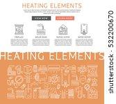 heating elements outline ... | Shutterstock .eps vector #532200670