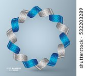 abstract 3d round ribbon banner ... | Shutterstock .eps vector #532203289
