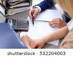 bookkeeper or financial... | Shutterstock . vector #532204003